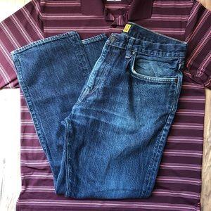 J. Crew Dark Wash Slim Straight Jeans 34/30